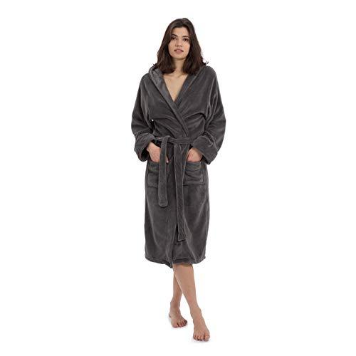 Lumaland Bata en Microfibra con capucha para hombre y mujer...