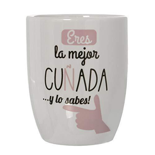 DRW Taza Desayuno Original Frase Positiva (Taza cuñada)