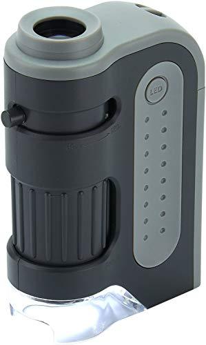 Carson MM-300 Microscopio de Bolsillo, Aumento 60x-120x, con...