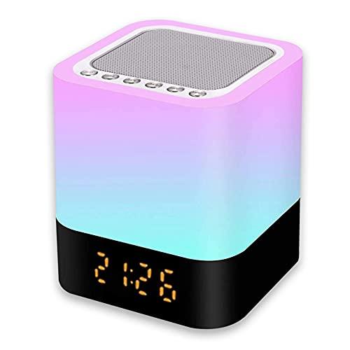 Luz Nocturna Altavoz Bluetooth, Gingbiss Lámpara Táctil...