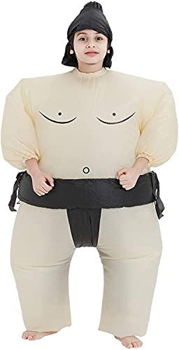 THEE Disfraces Inflable Luchador de Sumo Traje Hinchable...