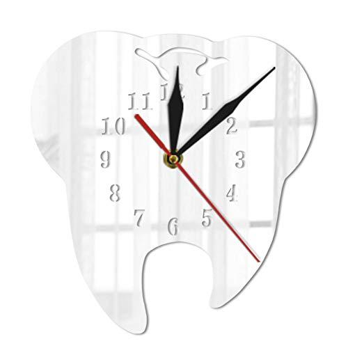 ALKLKJ Reloj De Pared Diente Reloj De Pared Espejo Relojes...