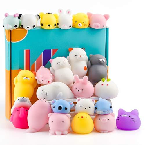 KUUQA 25Pcs Mochi Squishy Toys Kawaii Squishies Animales...
