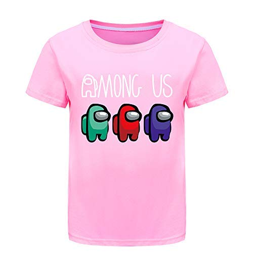 Among Us Verano 100% Camisetas de algodón para niños,...