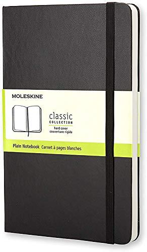 Moleskine - Cuaderno Clásico con Hojas Lisas, Tapa Dura y...