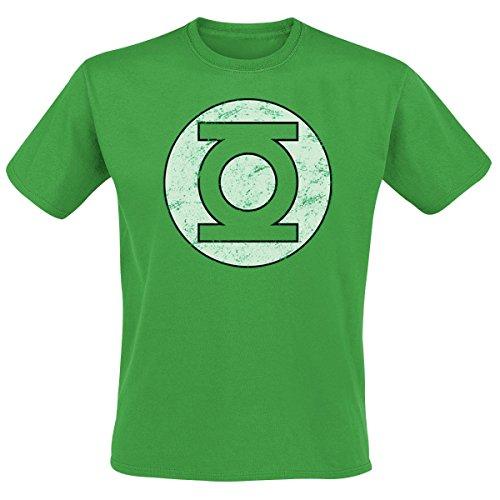 T-Shirt (Uomo Green -XX) Green Lantern - Distressed Logo