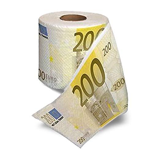 rollo de papel higiénico € 200 billetes de banco