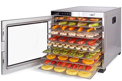Deshidratador Alimentos Acero Inoxidable • Temporizador 24...