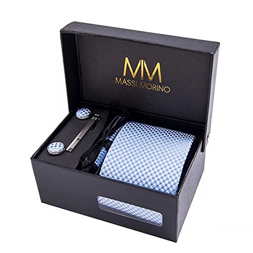 Massi Morino ® Set de corbata (caja regalo para hombres)...