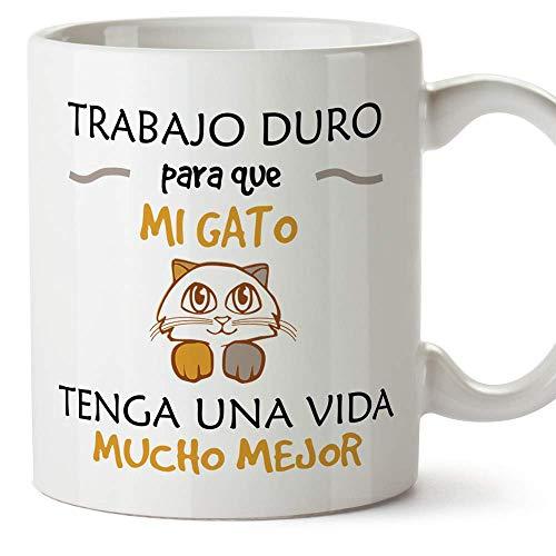 MUGFFINS Taza Gato (Gatito Vida Mejor() - Regalos Originales...