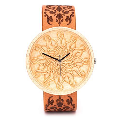 Reloj de Madera Grabado, Caja de Madera Natural, Reloj...