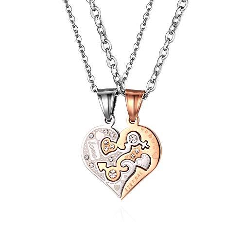 JewelryWe Pulseras para Parejas,Pulseras Yin Yang Taichi...