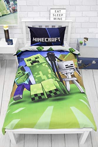 Minecraft Creeps - Funda de edredón para Cama Individual,...