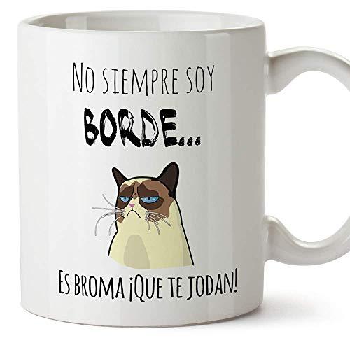MUGFFINS Taza Graciosa - No Siempre Soy Borde, es Broma -...