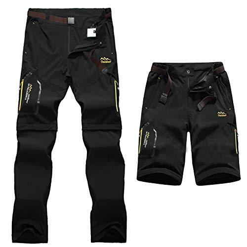 7VSTOHS Pantalones de Senderismo de Secado rápido para...