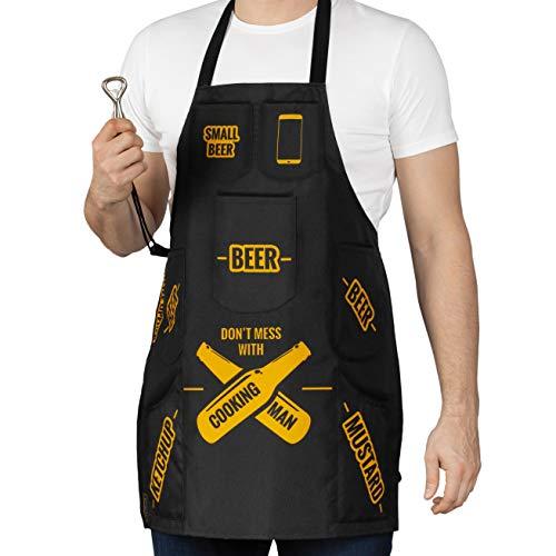 Froster Delantal para Hombres Que Cocinan, para Barbacoas, 7...