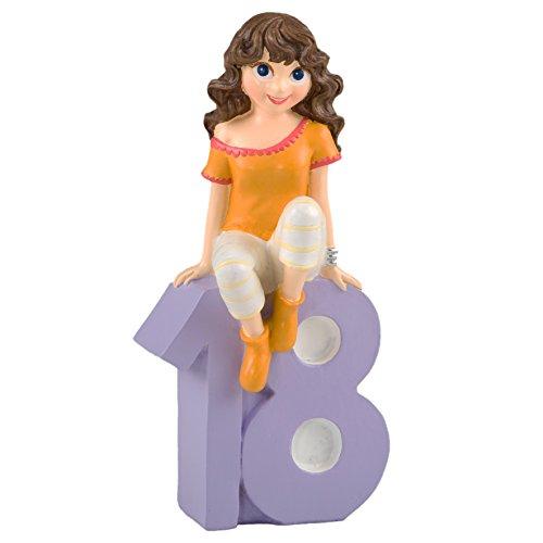 Mopec Figura para Pastel Chica con Camiseta, Poliresina,...