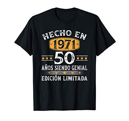 50 Años Cumpleaños Regalo Para Hombre Mujer Hecho En 1971...