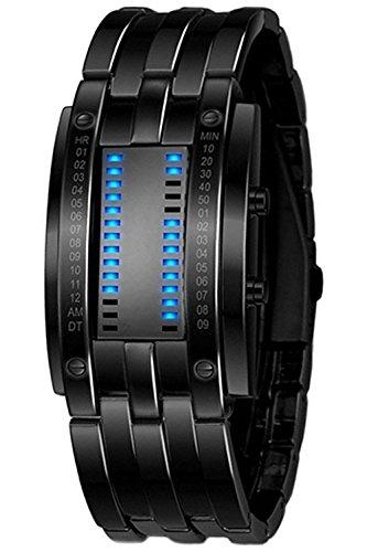 YDong Reloj de Pulsera LED de Fecha Digital de aleacion para...