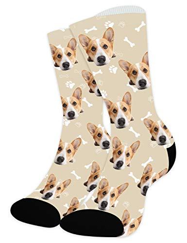 Arkioo Calcetines personalizados con imágenes de perros,...