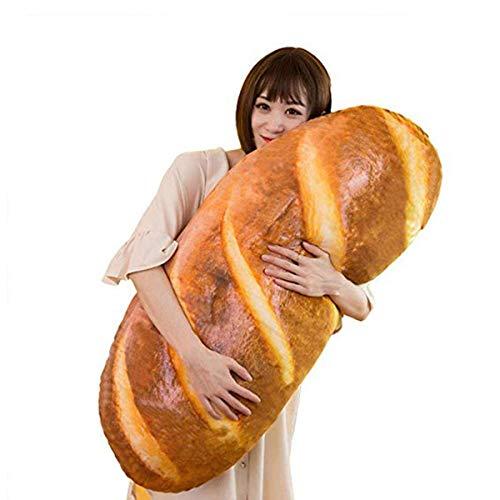 Divertida almohada de felpa, suave en forma de pan 3D,...