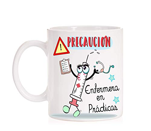 MardeTé Taza Precaución Enfermera en Prácticas Taza...