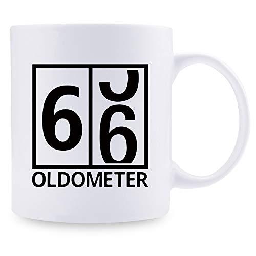 Taza de café para el 66.º cumpleaños para hombres, regalo...