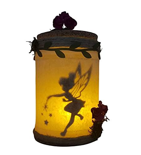 Campanilla capturada en tarro luminoso,luz quitamiedos...