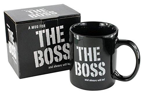 Taza de desayuno en caja regalo con mensaje 'El jefe' (en...