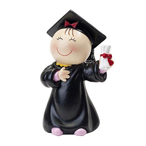 Mopec Figura Pastel Pita Graduación, Resina, Negro, 6x8x14...