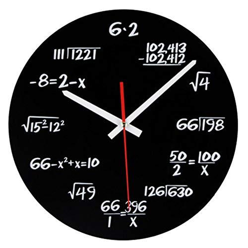 Vientiane Reloj de Pared de Matemáticas, Novedad Timelike...