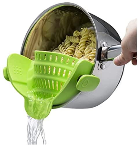 Kitchen Gizmo - Colador de silicona Snap 'N Strain que se...