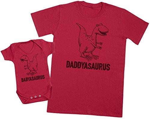 Zarlivia Clothing Daddysaurus & Babysaurus - Regalo para...