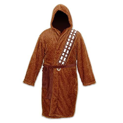 Groovy- Chewbacca-Bathrobe Albornoz, Color marrón/Beige,...