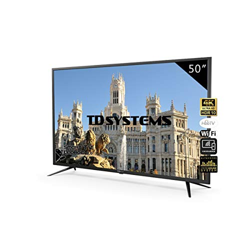 Television Smart TV 50 Pulgadas 4K, Android 9.0 y Hbbtv, UHD...