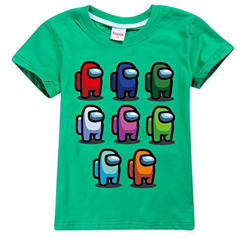 JDSWAN Unisex Niños Camiseta de Verano Impresión de...