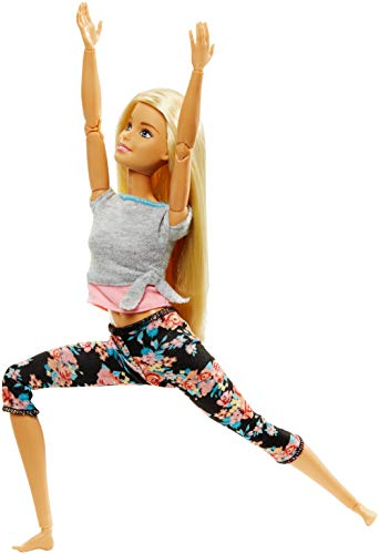 Barbie Fashionista Made to Move, muñeca articulada rubia...