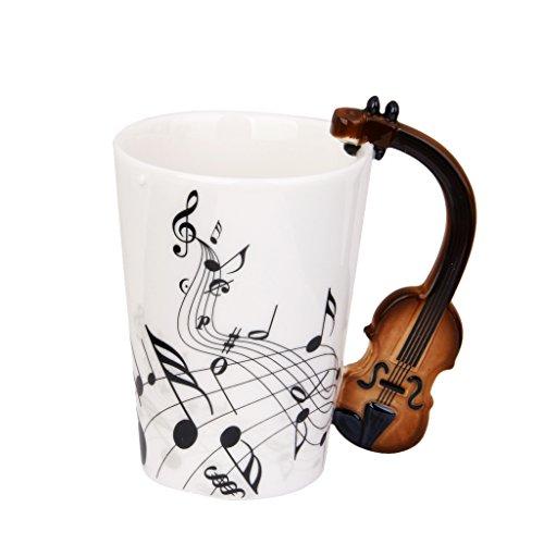 Taza de Té Copa Notas de Música Asa Forma de Violín...