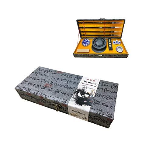 HorBous Set de Caligrafía China en Caja de Regalo 10 Piezas...