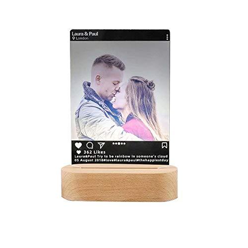Lámpara led en 3D, personalizable con foto o grabado con...