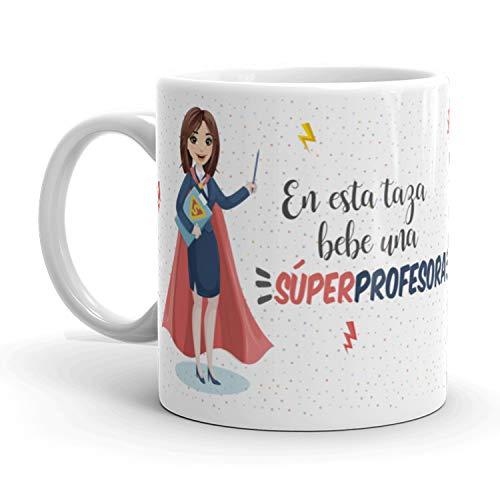 Kembilove Taza de Café Profesora – En Esta Taza Bebe una...