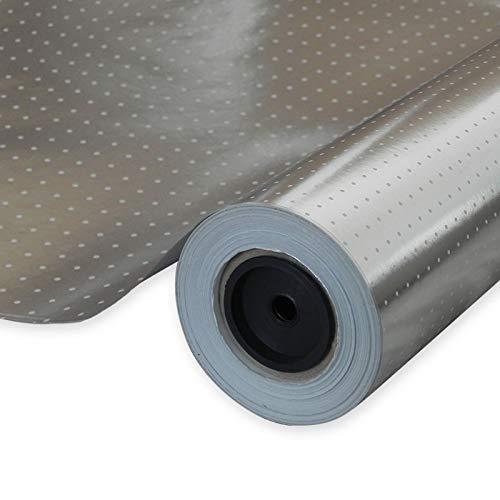 Bobina de papel Metalizado Topos blancos PBM05