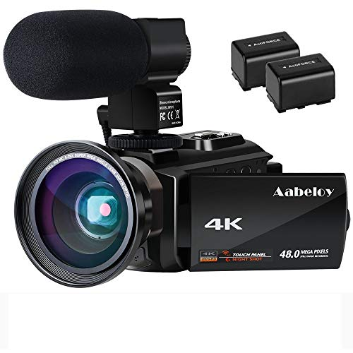 Videocámara 4K Vlogging Cámara Digital con WiFi Ultra HD...