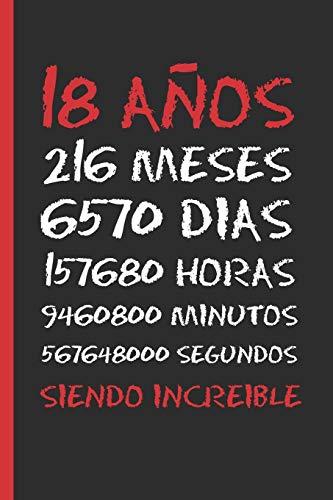 18 AÑOS SIENDO INCREIBLE: REGALO DE CUMPLEAÑOS ORIGINAL Y...
