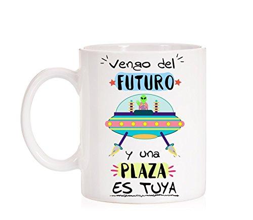 MardeTé Taza Opositor. Vengo del Futuro y una Plaza es...