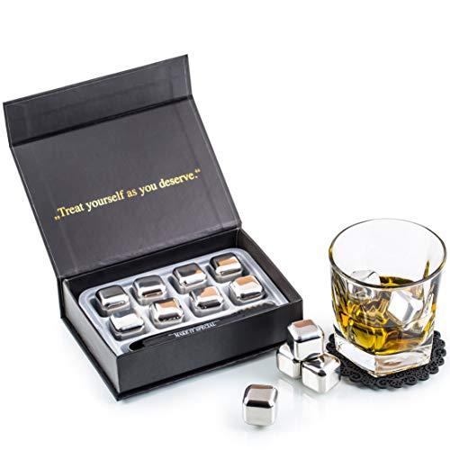Exclusivo Whisky Piedras Set de Regalo de Acero Inoxidable -...