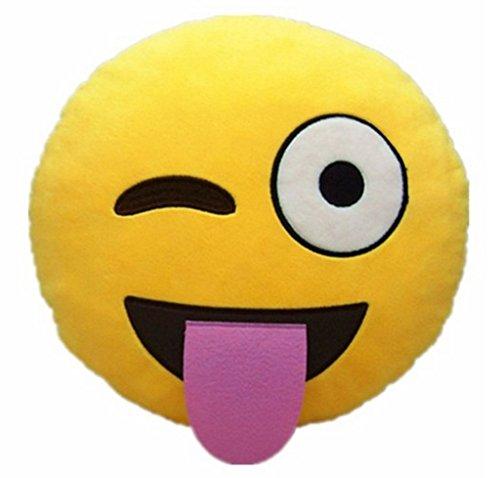 Ducomi® - Cojines con forma de emoji sonriente y excremento