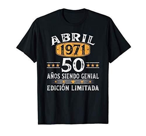 Nacido En Abril 1971 Regalo Hombre 50 Años Cumpleaños...