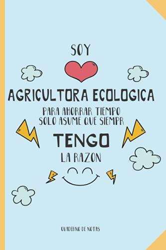 Regalo para la mejor Agricultora ecológica: Cuaderno de...