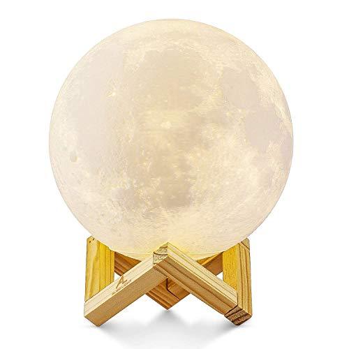 Lámpara de Luna en 3D, ALED LIGHT Luna con 15 cm de...